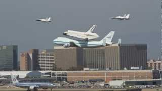Download Space Shuttle Endeavour Fly by and landing at LAX (Best video!!) Video