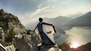 Download Crazy Wingsuit Flight - Man Lands on Water Without Parachute? Video