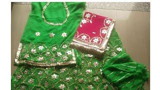 Download New Rajputi poshak with Gota Patti work and Zari work and tikki work new Rajputi wedding poshaks Video