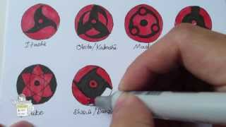 Download How to draw all Mangekyou Sharingan 万華鏡写輪眼 Video