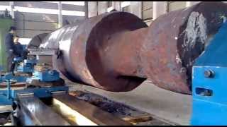 Download Heavy Duty Face Lathe Machine to Process Rotor Shaft or axle/120T load Video