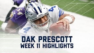 Download Dak Prescott Throws for 301 Yards and 3 TDs! | Ravens vs. Cowboys | NFL Week 11 Player Highlights Video