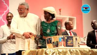 Download Rawlings cuts 70th birthday cake at National Theatre Video