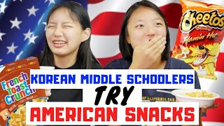 Download My KOREAN MIDDLE SCHOOLERS try AMERICAN SNACKS For the First Time Video