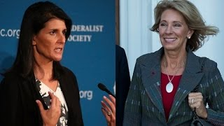 Download Haley, DeVos among Trump's Cabinet picks Video