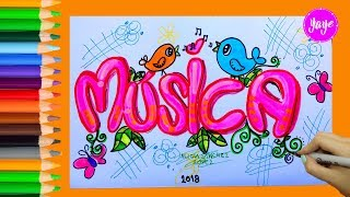 Download IDEAS PARA MARCAR CUADERNOS-Cómo dibujar portada de MÚSICA Video