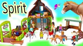 Download NEW Horse Barn + Horses Sets ! Spirit Riding Free Playmobil Sets - Video Video