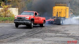 Download Semi vs Dually Tug O War Daisy Dukes Truck Show Video