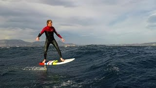 Download SURF Downwind Hydro foiling in Mediterranean Sea (RAW FOOTAGE) Video
