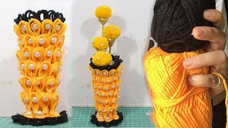 Download How to make flower vase with wool | Unique creative ideas 2019 | DBB Video