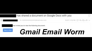 Download Gmail Email Worm (May 3rd, 2017) Video