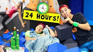 Download 24 Hours in a Trampoline Park! *KICKED OUT!* Video