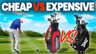 Download EXPENSIVE GOLF CLUBS AND BALLS VS CHEAP CLUBS AND BALLS Video