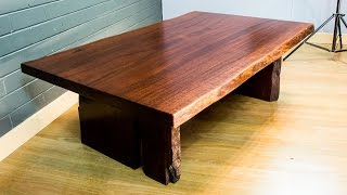 Download Making a Beautiful Jarrah Coffee Table - Rustic coffee table - Slab Furniture Video