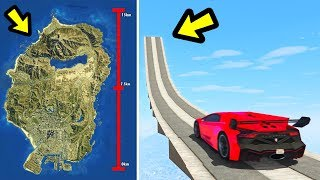 Download Can a car jump the entire GTA 5 Map? Video