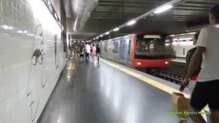 Download The Metro/Subway in Lisbon, Portugal Video