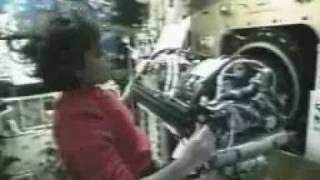 Download STS-107 Mission Specialist Kalpana Chawla works in the SPACEHAB Research Video