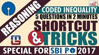 Download SHORTCUT & TRICKS | REASONING | CODED INEQUALITY | SBI PO 2017 Video