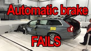 Download Automatic braking system test fails Video