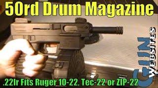 Download 50rd Drum Magazine .22lr Ruger 10-22 Video