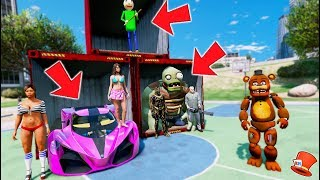 Download DON'T CHOOSE THE WRONG CONTAINER! WITHERED FREDDY LUCKY CONTAINERS! (GTA 5 Mods FNAF Kids RedHatter) Video