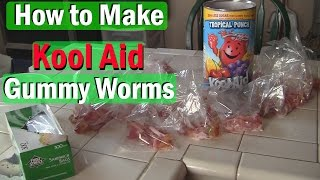 Download How to Make Gummy Worms with Kool Aid ! Video