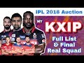Download IPL 2018 Auction : KXIP - Final Full List Of Players & Real Squad | Kings XI Punjab Video