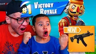 Download *NEW* SMG WEAPON IS OVERPOWERED OMG!!! 9 YEAR OLD BROTHER GETS *TROLLED*😂 FORTNITE BATTLE ROYALE! Video