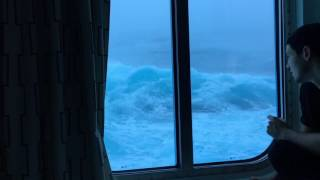 Download Anthem Of The Seas Vs Huge Waves And 120 MPH Winds. Viewed From My Room On The Third Deck. NO MUSIC! Video