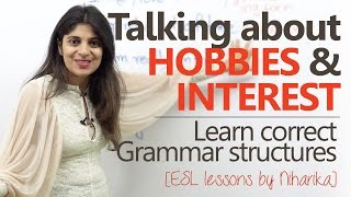 Download Talking about hobbies and Interest ( Asking questions & replying) – Free English lessons Video
