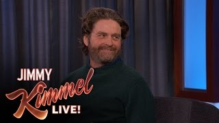 Download Zach Galifianakis Makes Fun of Jimmy Kimmel's Co-Executive Producer Video