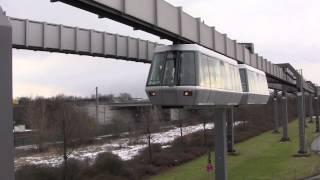 Download The Skytrain (H-Bahn) at Düsseldorf International Airport (DUS), Germany - 8th February, 2013 Video
