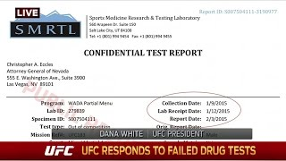 Download Dana White details Anderson Silva's failed drug test Video