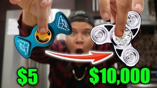 Download $5 FIDGET SPINNER VS $10,000 FIDGET SPINNER (REAL DIAMONDS) Video