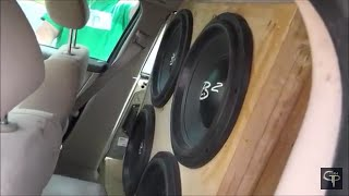 Download 4 B2 Audio HN15's on 8,000 Watts doing damage: GPcarAudio Event #1 Video