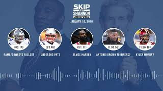 Download UNDISPUTED Audio Podcast (01.15.19) with Skip Bayless, Shannon Sharpe & Jenny Taft   UNDISPUTED Video