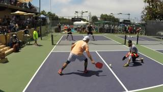 Download 2017 So Cal Classic Pickleball Tournament Men's Doubles Pro Johns/Ashworth vs. Coyle/Warnick Game 3 Video