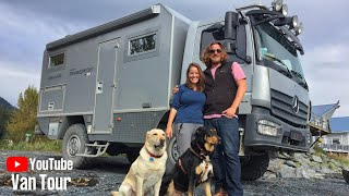 Download Couple lives TINY and TRAVELS the world in 4x4 Expedition Vehicle ~ BiMobil EX480 Tour Video
