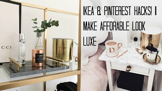 Download IKEA HACKS & PINTEREST DIY'S | MAKE AFFORDABLE LOOK LUXE Video