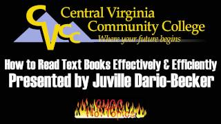 Download How to Read Textbooks Effectively & Efficiently Presented by Juville Dario-Becker Video