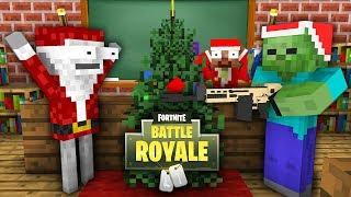 Download Monster School : FORTNITE BATTLE ROYALE CHRISTMAS SEASON 7 CHALLENGE - Minecraft Animation Video