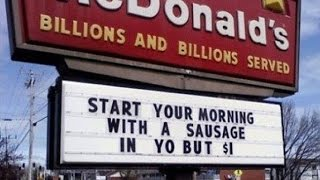 Download Most hilarious and funny Fast Food Signs Fails around the World Video