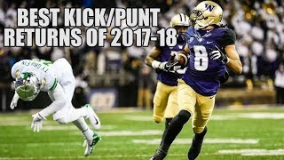 Download College Football Best Kick/Punt Returns of the 2017-18 Season ᴴᴰ Video