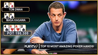 Download TOP 10 MOST AMAZING POKER HANDS EVER! Video
