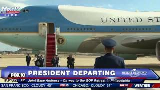 Download WATCH: President Trump Departs On Air Force One For The First Time Video