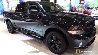 Download 2017 Ram 1500 Black Express - Exterior and Interior Walkaround - 2017 New York Auto Show Video
