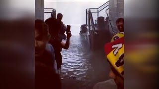 Download Thousands of Soccer Fans Seek Shelter From Severe Flooding in Chicago Video