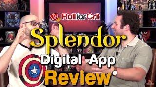Download Splendor Digital App Review   Roll For Crit Video
