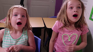 Download Addy and Maya's SHOW & TELL Day at Fake Toy School with Tangle Toys !!! Video
