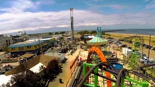 Download Looping Star front seat on-ride HD POV @60fps Keansburg Amusement Park Video